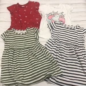 Lot of 4 Old Navy (2) dresses (2) shirts 4T